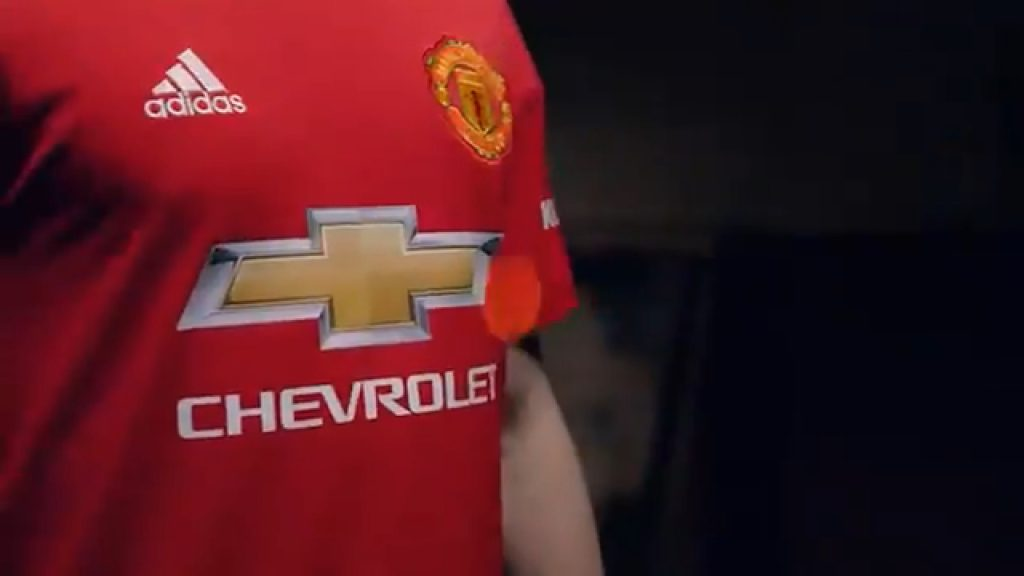 Man Utd's new 2018/19 home kit.