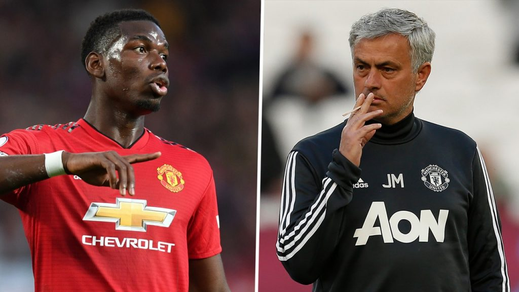 Jose Mourinho vs Paul Pogba
